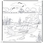 Disegni da colorare  Animali - In riva al canale