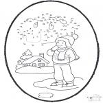 Disegni da colorare Inverno - Inverno - Disegno da bucherellare 1