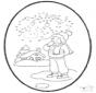 Inverno - Disegno da bucherellare 1