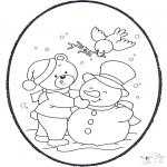 Disegni da colorare Inverno - Inverno - Disegno da bucherellare 2