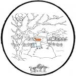 Disegni da colorare Inverno - Inverno - Disegno da bucherellare 4