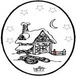 Disegni da colorare Inverno - Inverno - Disegno da bucherellare 5