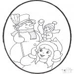Disegni da bucherellare - Inverno Disegno da bucherellare