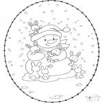 Disegni da colorare Inverno - Inverno - Disegno da ricamare 1