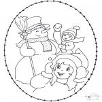 Disegni da colorare Inverno - Inverno - Disegno da ricamare 2