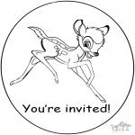 Lavori manuali - Invito - Bambi