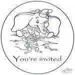 Lavori manuali - Invito - Dumbo