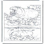 Disegni da colorare Animali - Ippopotamo 1