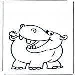 Disegni da colorare Animali - Ippopotamo 2