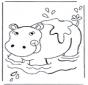 Ippopotamo nellacqua