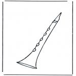 Disegni da colorare Vari temi - Klarinet