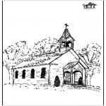 Disegni biblici da colorare - La chiesa 2
