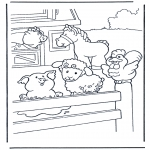 Disegni da colorare Animali - La fattoria