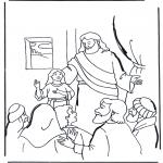 Disegni biblici da colorare - La figlia di Jairo 2