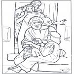 Disegni biblici da colorare - La figlia di Jairo 3
