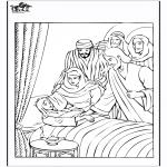 Disegni biblici da colorare - La figlia di Jairo 4