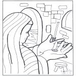 Disegni biblici da colorare - La moneta della vedova