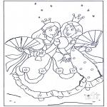 Disegni da colorare Vari temi - La principessa 1