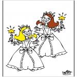 Disegni da colorare Vari temi - La principessa 4