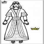 Disegni biblici da colorare - La regina Ester 2