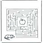 Lavori manuali - Labirinto ' topo e mela