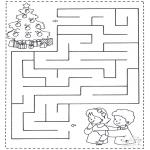 Disegni da colorare Natale - Labirinto di Natale 1
