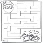 Disegni da colorare Natale - Labirinto di Natale 2