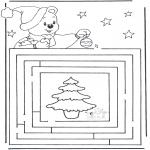 Disegni da colorare Natale - Labirinto di Natale 3