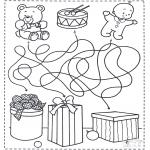 Disegni da colorare Natale - Labirinto di Natale 4