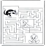 Lavori manuali - Labirinto Titti
