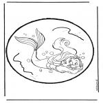Disegni da bucherellare - Lámina perforada de La sirenita 1