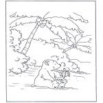 Disegni per i piccini - Lars lorsetto bianco 7