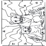 Disegni da colorare Animali - Leoncini
