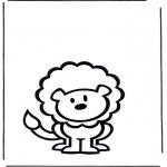 Disegni da colorare Animali - Leone 2