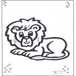 Disegni da colorare Animali - Leone coricato