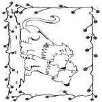 Disegni da colorare Animali - Leoni 6
