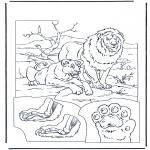 Disegni da colorare Animali - Leoni