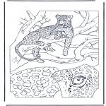 Disegni da colorare Animali - Leopardo 1
