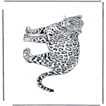 Disegni da colorare Animali - Leopardo 2