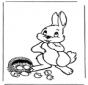 Lepre di Pasqua con le uova 1
