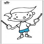 Disegni da colorare Vari temi - Lezioni di musica