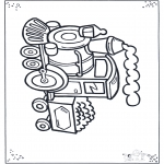 Disegni da colorare Vari temi - Locomotiva 2