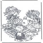 Disegni da colorare Vari temi - Lora del tè