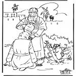 Disegni biblici da colorare - Lunzione di Davide