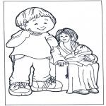 Disegni per i piccini - Madre con figli 2