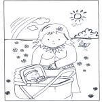 Disegni da colorare Temi - Madre e bambino