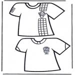Disegni da colorare Vari temi - Magliette calcio 1