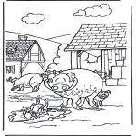 Disegni da colorare  Animali - Maiali 3