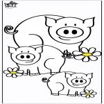 Disegni da colorare  Animali - Maiali 4