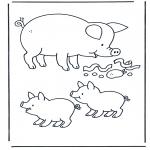 Disegni da colorare Animali - Maialie 1